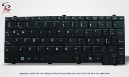 Teclado Español Negro TOSHIBA T110 PCS-PK1308OO2A00