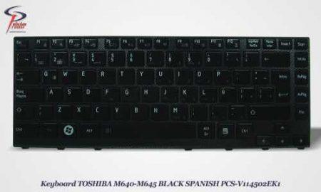 Teclado Español Negro TOSHIBA M640 PCS-V114502EK1