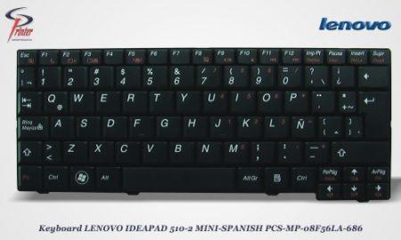 Teclado Español Negro IDEAPAD LENOVO S10-2. PCS-MP-08F56LA-686
