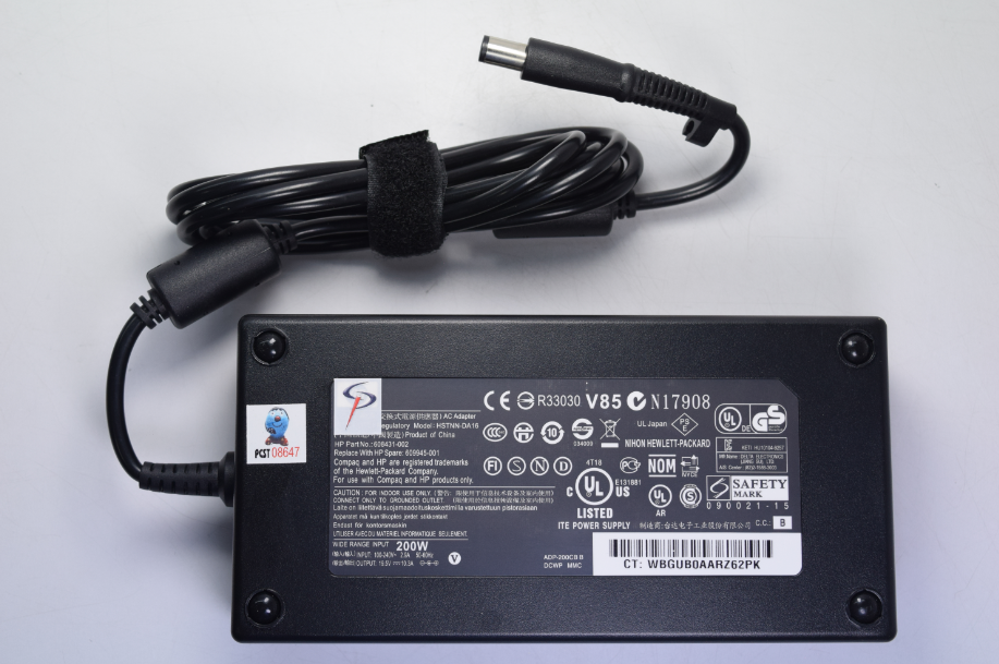 ADAPTADOR PORTATIL PLUG AGUJA HP 19.5V 10.3A 200W (7.4MM X 5.0MM) 693708-001
