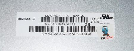 """Pantalla Pc Todo En Uno Dell LCD 23.0"""" 1920×1080 Conector 6 Pines M230HGE-L20"""